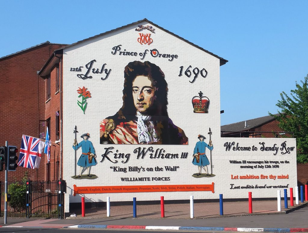 Murales Re William, Belfast, Dublino Nascosta tour a piedi in italiano